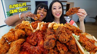 AMERICAN vs KOREAN FRIED CHICKEN with BLOVESLIFE MUKBANG!