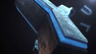 Video Logo Template #58 - 3D Text Opener Blue