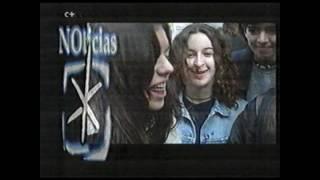 """Blur noticia """"Fans en La Gran Vía de Madrid"""" año 1995"""