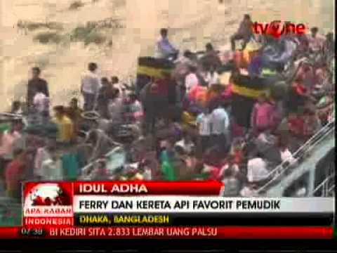 VIVAnews : Ratusan Ribu Umat Muslim Mudik dengan Kapal Ferry dan Kereta Api