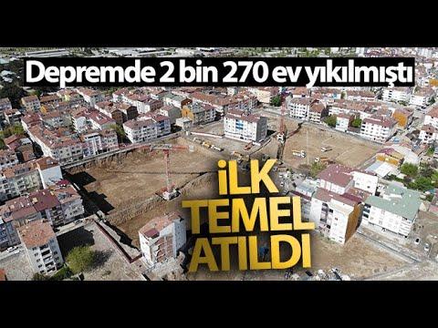 2 Farklı Mahallede De Deprem Konutları Yükselmeye Başladı