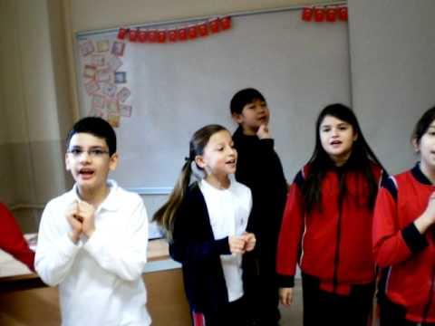 Kültür Koleji İlköğretim Okulu 4. sınıf Almanca şarkı