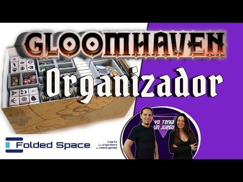 Gloomhaven | Organizador | Cómo guardar | Inserto | Accesorios | Folded Space | Juego de mesa