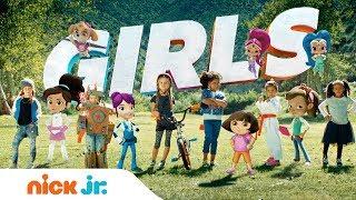 Unstoppable Girl Power w/ Dora, Nella, Shimmer, Shine & More Friends! | Nick Jr.