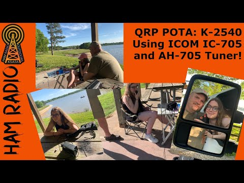 QRP POTA with the Icom IC-705 and AH-705 Antenna Tuner