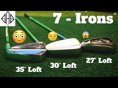 TESTING 7 IRONS WITH DIFFERENT LOFTS - Unbelievable Results