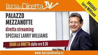 Registrazione evento Larry Williams a Milano