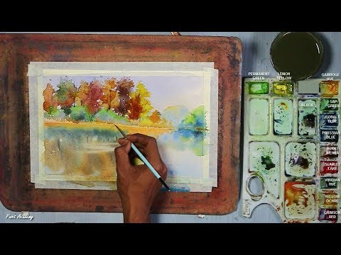 How to Paint Water Reflections in Watercolor