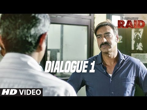 Raid  (Dialogue Promo 1) | Ajay Devgn | Ileana D'Cruz | Movie Releasing ►16th March 2018
