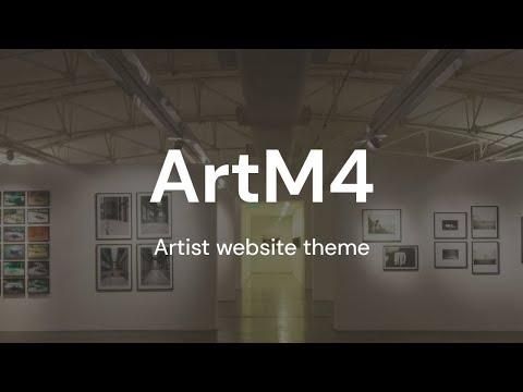 Mobirise Artist Website Theme | ArtM4