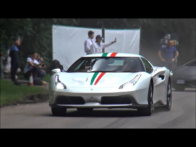 Million pound one-off Ferrari 458 MM Speciale burnouts and drifts!