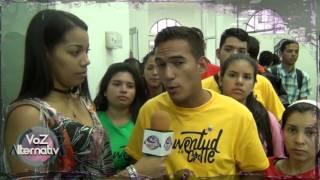 Angelo Rivas invitando a participar en el Congreso de la Patria