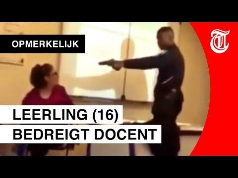 Schokkend: scholier bedreigt docent met wapen
