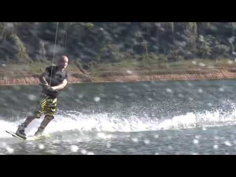 First wakeboard ride in Mae Ngat Lake - Chiang Mai 2017