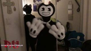 BENDY COSTUME- TEST- BUILD OUR MACHINE DANCE-TEST