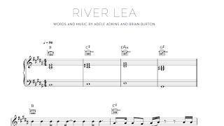 River Lea - Adele [Sheet & Midi Download]