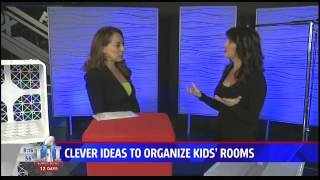 CLEVER IDEAS TO ORGANIZE KIDS ROOMS  KSWB TV  1 23 17  8am