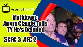 Meltdown: Angry Claude Tells TY He's Deluded - Stoke City 3 Arsenal 2