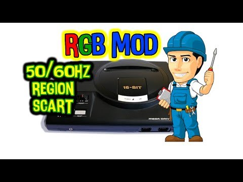 MOD RGB: La mejor imagen para mi megadrive, 50/60Hz, Led bicolor, salida euroconector y region