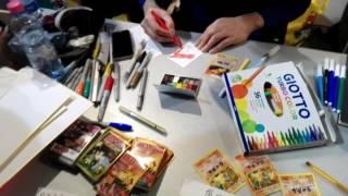 Mitsuhiro Arita Draws Live colored EX Dragon CHARIZARD Cartoomics 3 marzo 2017 有田満弘 Disegna Diretta