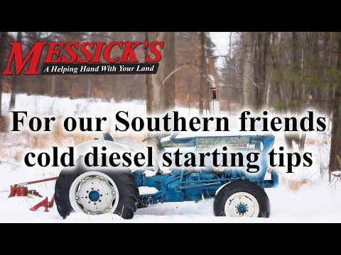 Cold diesel starting tips, for our friends in the south. Picture