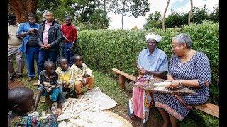 Global Tv Kenya: Margaret Kenyatta Amsaidia Mama Majukumu ya Nyumbani