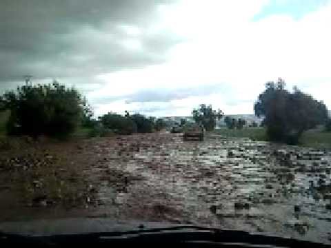 Flooden route N10 in Morocco