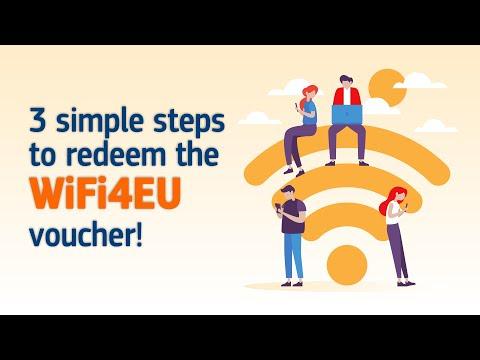 3 simple steps to redeem the WiFi4EU voucher! photo