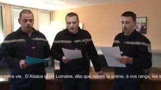 Chant pompier d'Alsace et de lorraine