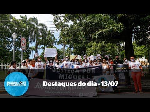 Destaques de 13/07: Protesto por Miguel, partido tenta filiar mortos e corpo de atriz encontrado