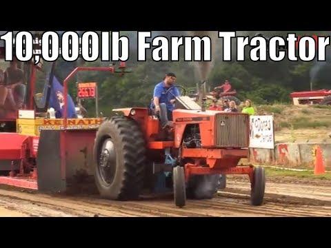 10,000lb Farm Tractor Class At TTPA Tractor Pulls In Mayville MI 2018