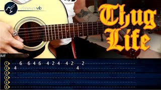 Como tocar la Canción del  THUG LIFE  con la Guitarra | Snoop Dogg The Next Episode | Tutorial TABS