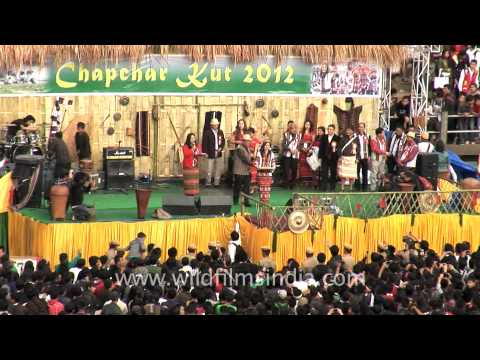 Winners of Mr and Miss Chapchar Kut, 2012, Aizawl