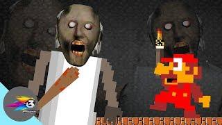 GRANNY THE HORROR GAME ANIMATION: Mario Vs Scary Granny
