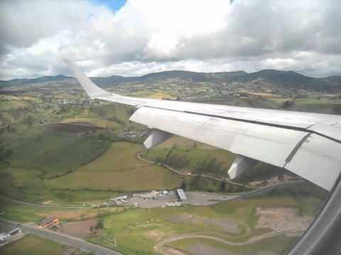 Landing at Tulcan (Ecuador) with Tame