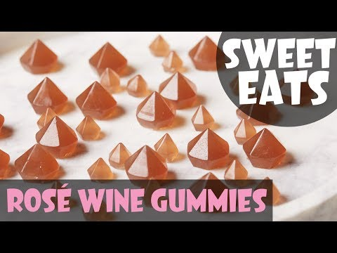 How to Make Rosé Wine Gummies | Food Network