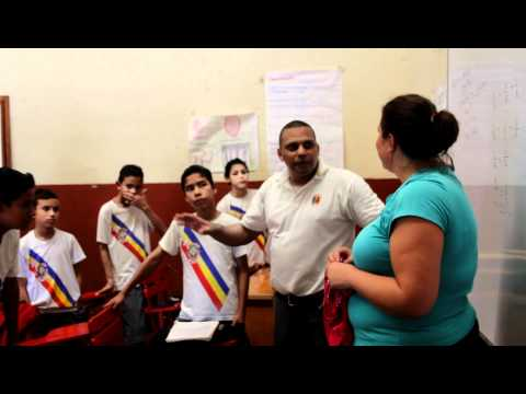 Marci teaches and English class in Granada, Nicaragua