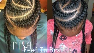Feed in braids On Kids