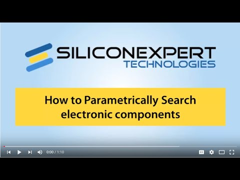 Parametrically Search for electronic components