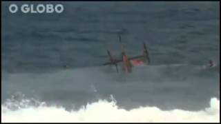 Helicopter Crashes Into Ocean During Rescue Attempt