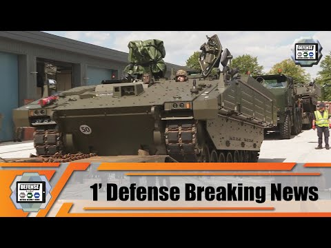 British army takes delivery of first six ARES APC Armored Personnel Carrier in the AJAX family