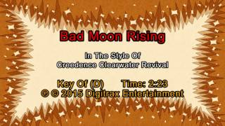 Creedence Clearwater Revival - Bad Moon Rising (Backing Track)