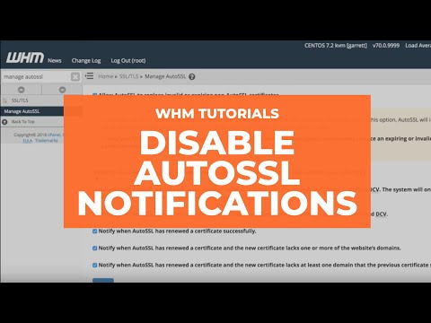 Disable AutoSSL Notifications