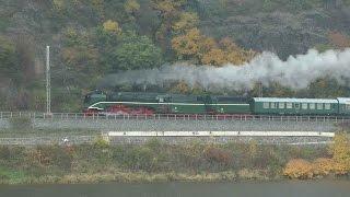 Nejrychlejší provozní parní lokomotiva na světě 18 201 v Praze