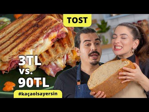 Şeflerimiz Yaptı: Tanesi 3 Liraya Tost vs. 90 Liraya Tost Tarifi #kaçaolsayersin