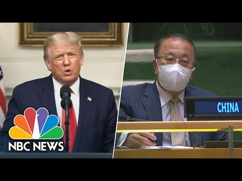 Trump Calls Out China For Role In Coronavirus Pandemic During U.N. Speech | NBC News NOW