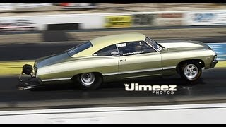 EDWIN ROBLES' BAD '67 CHEVY IMPALA TEST HIT AT BYRON 8-3-12