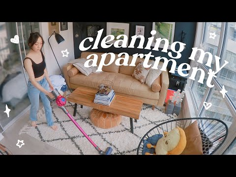 Cleaning my MESSY apartment! (productive vlog)