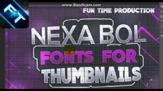 Copy of Best Fonts Pack For Thumbnails , Banners Covers Logos  Latest !
