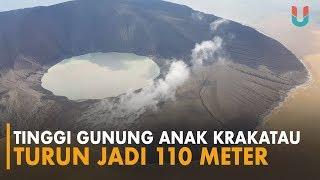 Penampakan Terkini Gunung Anak Krakatau dari Udara